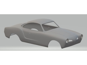 Karman Ghia Printable Body Car