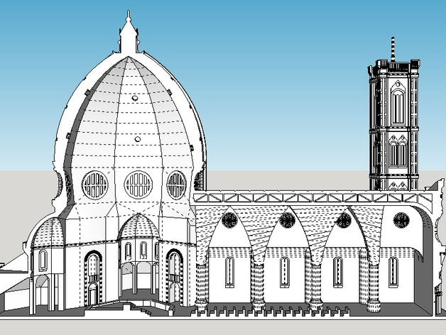 Cattedrale Di Santa Maria Del Fiore By Thingshappen Thingiverse