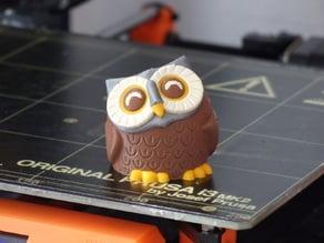 Smiling owl (multi-material)