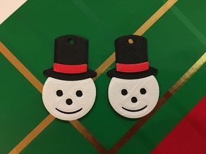 Snowman Earrings 1