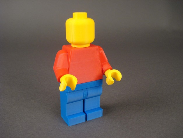 Blank Minifig, Jumbo Snap-Together Version by Skimbal - Thingiverse