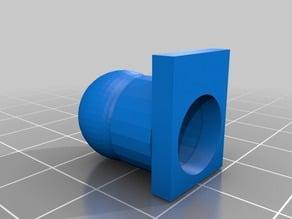 Conector tubo flexible de ventilación de capa para ventilador radial