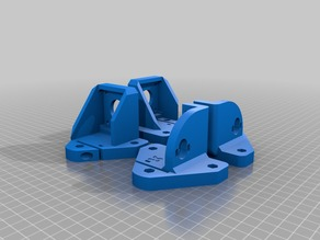 x3 Z brackets - with extruder and Y stepper mounts