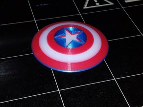 Captain America Shield Refrigerator Magnet