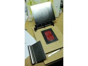 Solder paste stencil holder + PCB holder