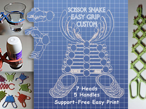 Scissor Snake Easy Grip Custom