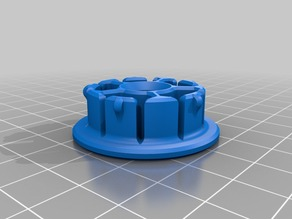 3D filament inset to reduce 30mm (Hatchbox) spool opening to 8mm rod (Rigidbot spool holder)