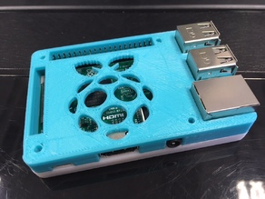 Raspberry Pi 2/3 Case (compatible with Pi HATs)