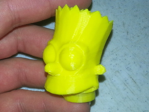 Bart Simpson's Head Sliced