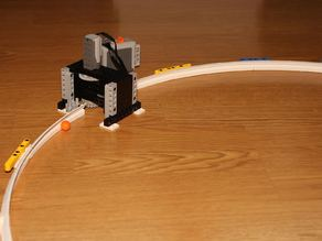 Rails for lego particle accelerator