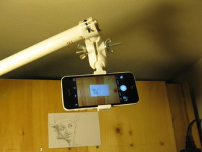Ball joint phone mount with tripod mount