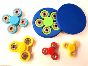 Customizable fidget spinner with text and perfect storage box