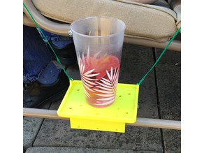 Cup Tray for garden chair