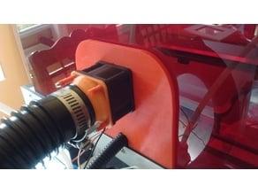 Bibo2 Hood Vent for engraving fumes using 40mm fan