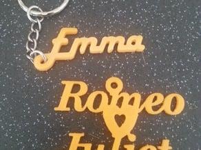 Name Key rings
