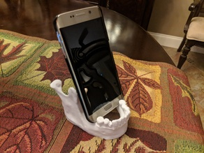 Skull Jaw Phone Tablet Business Card Stand