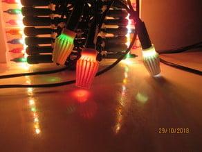 Russian-like christmas light lampshades
