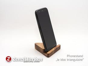 "Smartphonestand ""le bloc triangulaire"" cnc/fdm"