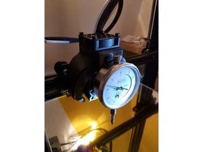 Magnetic dial indicator mount on Fang CR10S (Support magnétique de comparateur sur Fang)