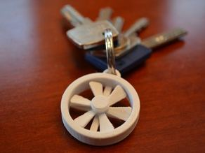 Propeller key chain