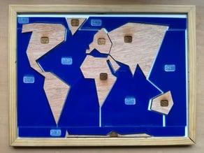 puzzle planisphère braille très simplifié lasercut