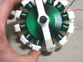 3D Printed Motor Runs on Almost Nothing!
