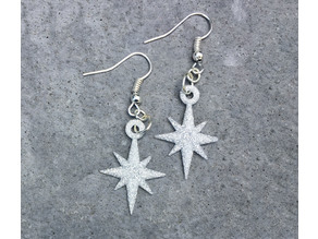 Starflake Star Pendant Earrings