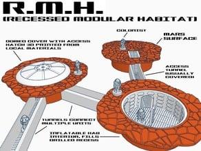 R.M.H. (Recessed Modular Habitat)