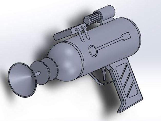 Laser gun from Rick and Morty by SolidWorks3d - Thingiverse