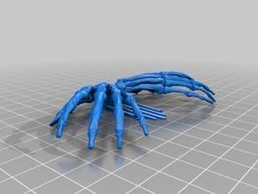 Double Skeleton Hand Hair Slide