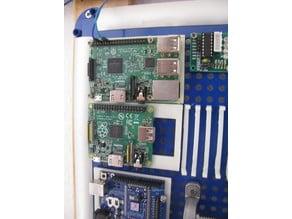 Raspi mount for *metric* pegboard | Raspberry-Halterung für metrisches Pegboard
