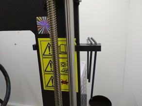 Hex Key Holder for Prusa frame (MK2, 2.5, 3)