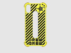 V6 Drew Brew Construction Style iPhone XS MAX Case
