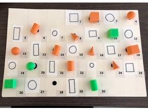 Small 3D Solids for Number Corner Pattern Calendar