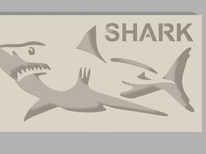 Shark stencil