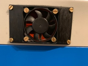 Inlet fan adapter for K40 laser