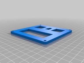 Digital temperature control box faceplate