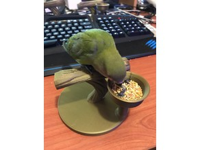 Bird stand with feed