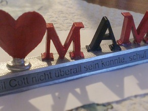 Mother's Day present (in German)