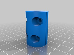 My Customized Parametric Z-axis coupler (stepper and threaded rod coupling)