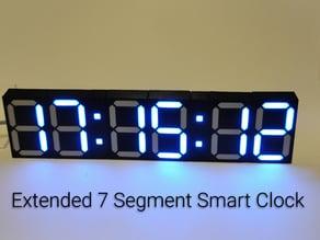 Extended 7 Segment Smart Clock