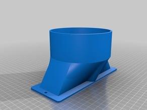 "K40 125mm (5"") Hose Adaptor, compliments K40 Laser Cutter 3D Printed Exhaust Port"