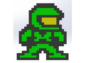 Halo pixel figure