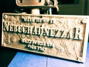 The Matrix - Nebuchadnezzar Placard V.2