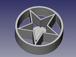 Pentagram e-cig holder for 19mm diameter mods