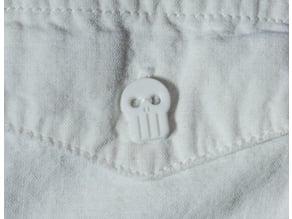 Skull Shirt Button