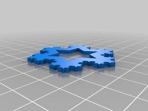 Parametric Koch snowflakes