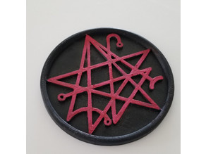 Necronomicon Symbol Coaster