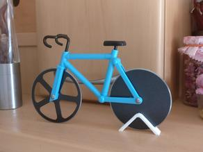 Simple stand for pizza cutter bike