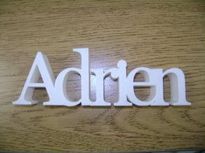 Adrien , 3D Name.